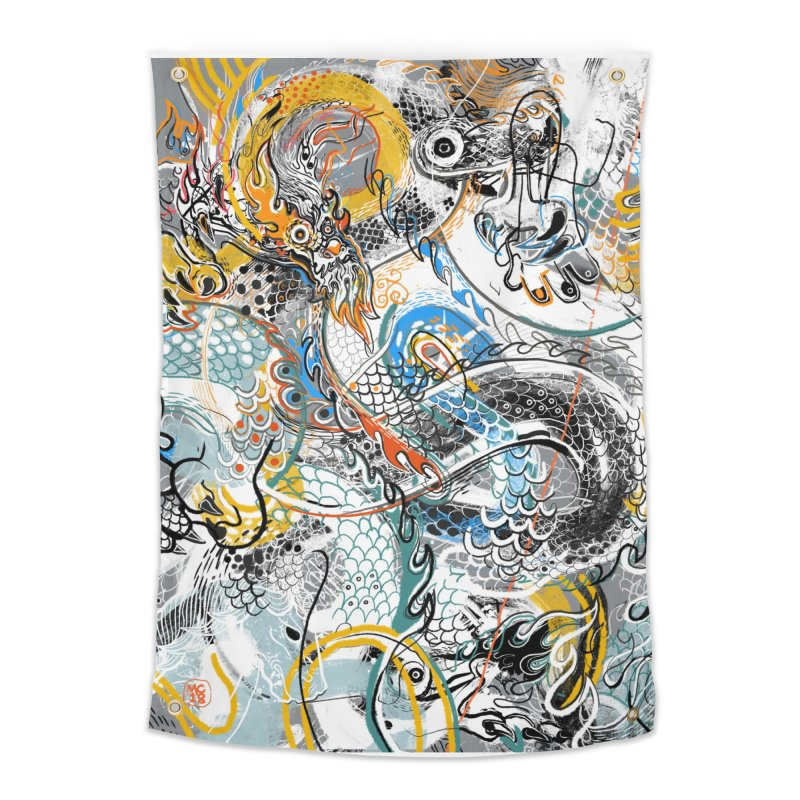 Dragon Block1 Home Tapestry by Boy Vs Dragon