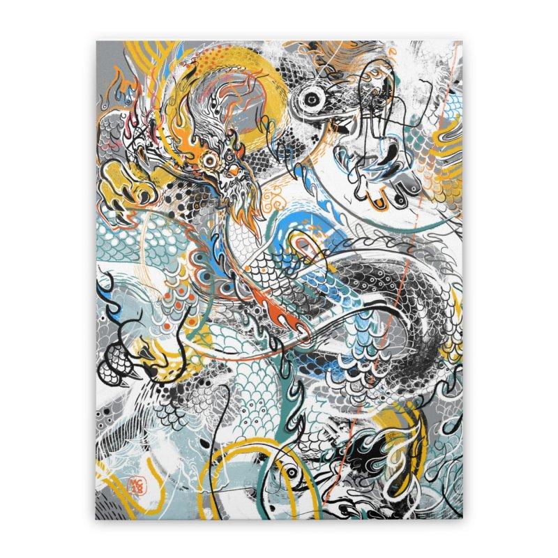 Dragon Block1 Home Stretched Canvas by Boy Vs Dragon