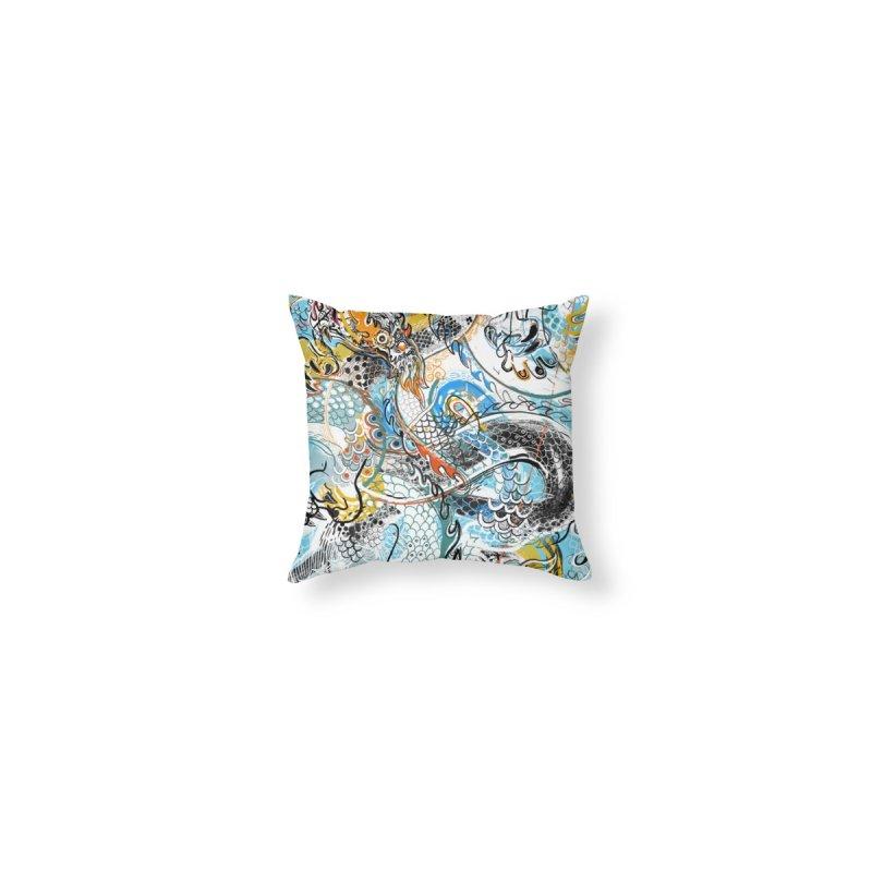 Dragon Block 2 Home Blanket by Boy Vs Dragon