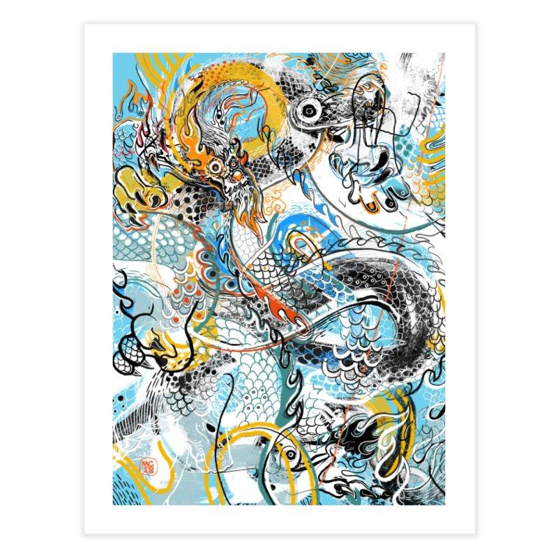 Dragon Block 2 Home Fine Art Print by Boy Vs Dragon