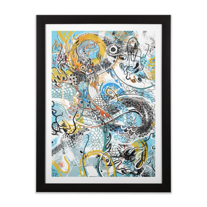 Dragon Block 2 Home Framed Fine Art Print by Boy Vs Dragon
