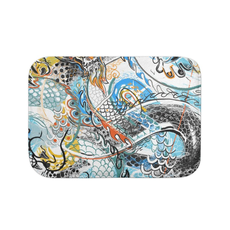 Dragon Block 2 Home Bath Mat by Boy Vs Dragon