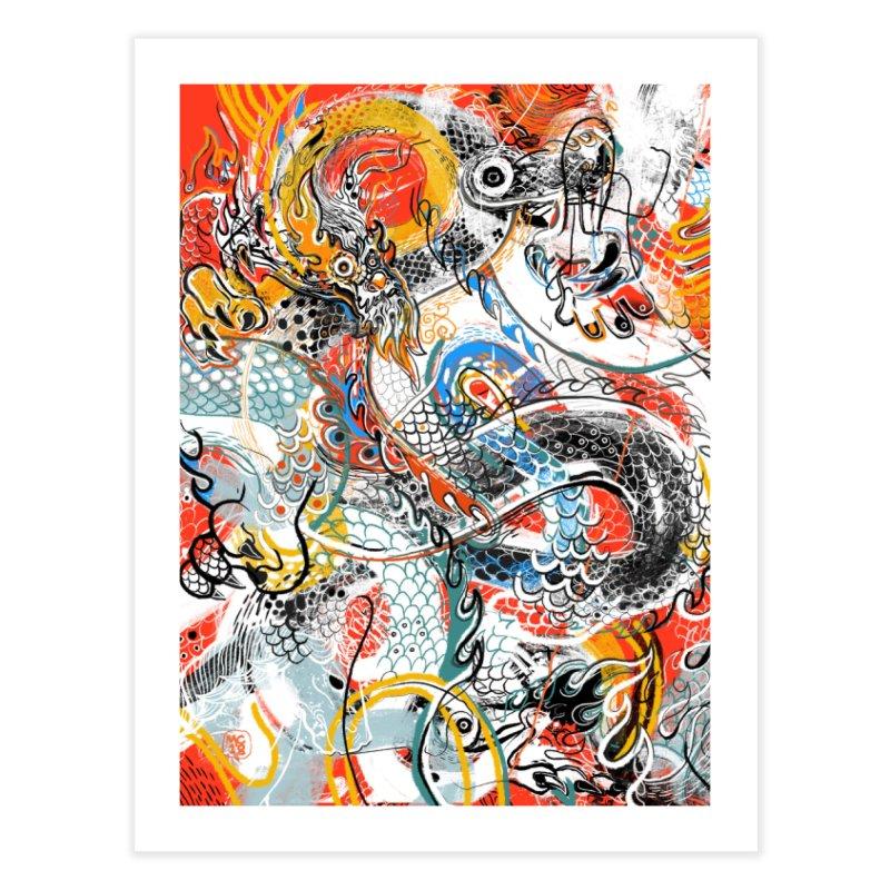 Dragon Block 3 Home Fine Art Print by Boy Vs Dragon