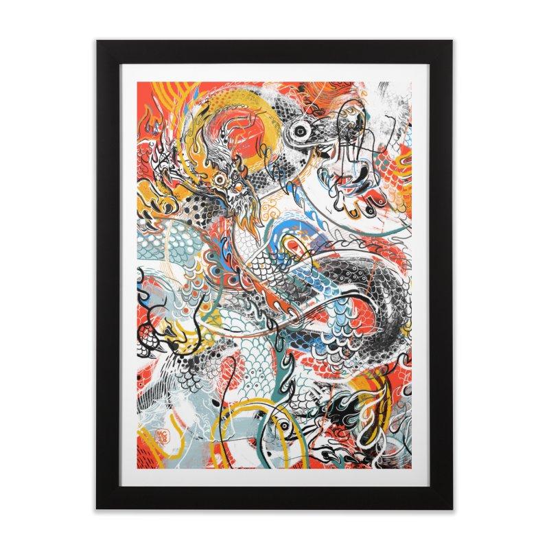 Dragon Block 3 Home Framed Fine Art Print by Boy Vs Dragon