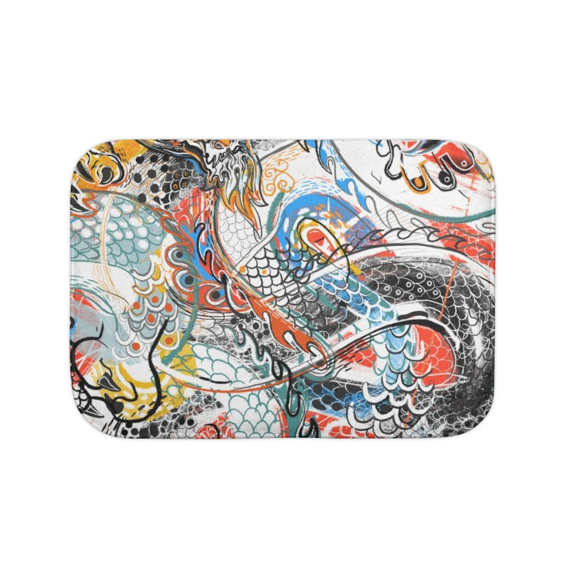Dragon Block 3 Home Bath Mat by Boy Vs Dragon