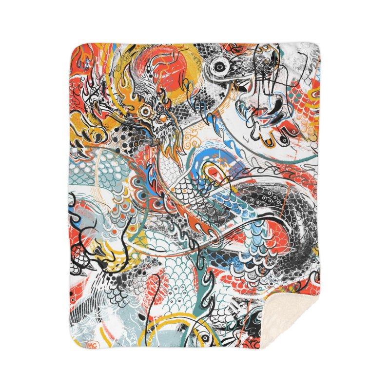 Dragon Block 3 Home Sherpa Blanket Blanket by Boy Vs Dragon