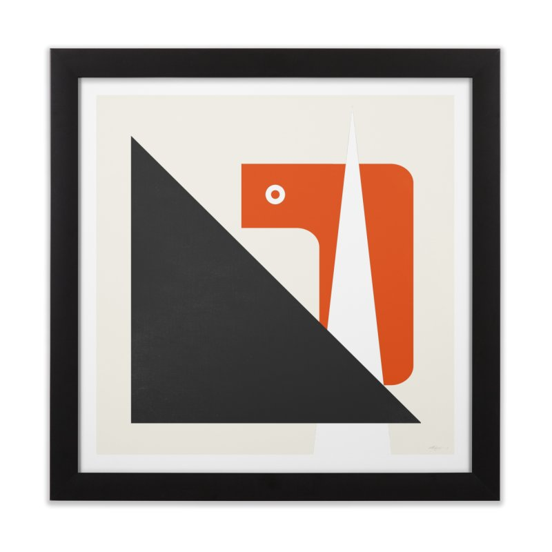 system 01 orange Home Framed Fine Art Print by Boy Vs Dragon