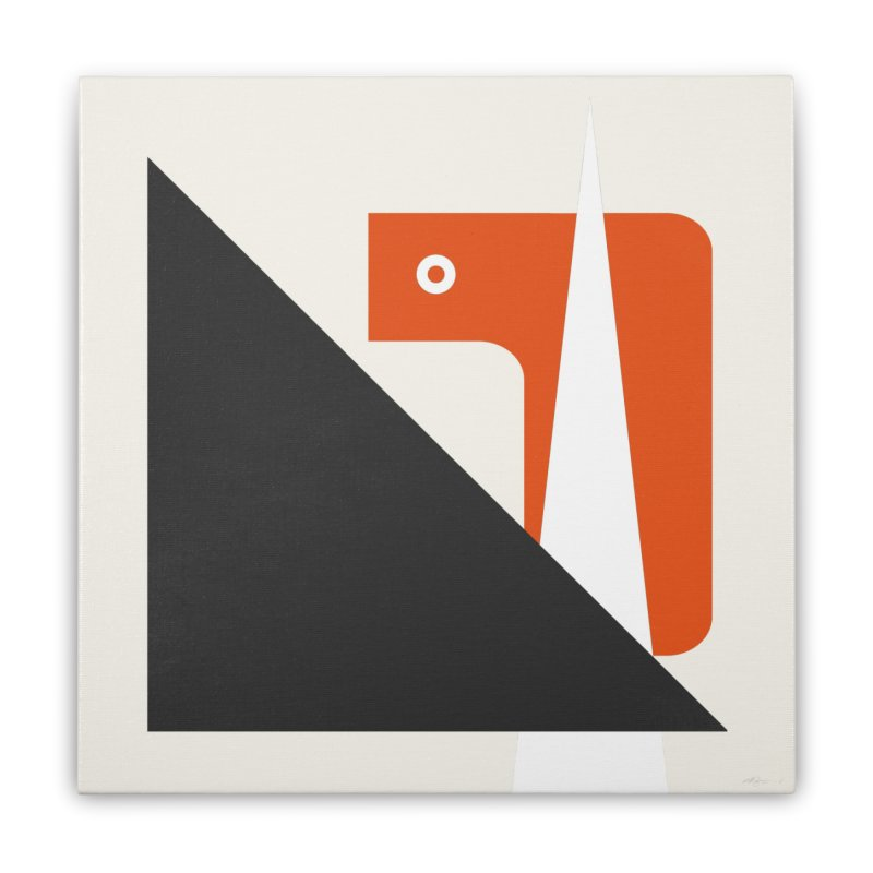 system 01 orange Home Stretched Canvas by Boy Vs Dragon