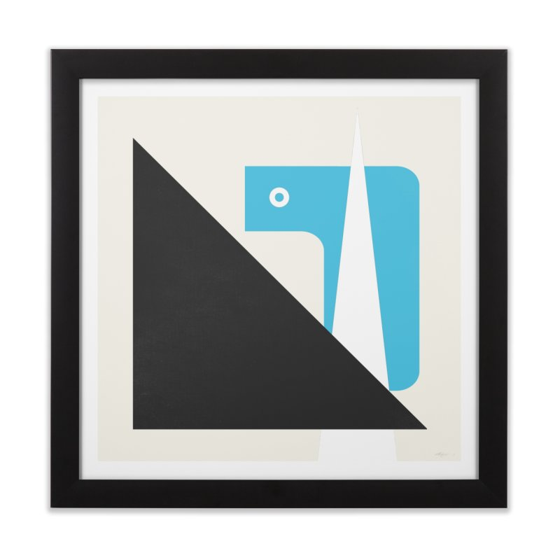 System o1 blue Home Framed Fine Art Print by Boy Vs Dragon