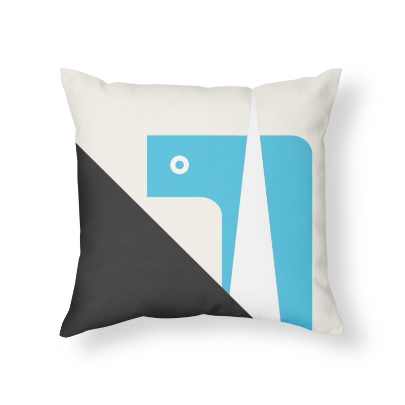 System o1 blue Home Throw Pillow by Boy Vs Dragon