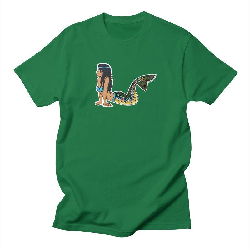 Brown Mertrout Men's Regular T-Shirt by Bozeman Creatives's Artist Shop