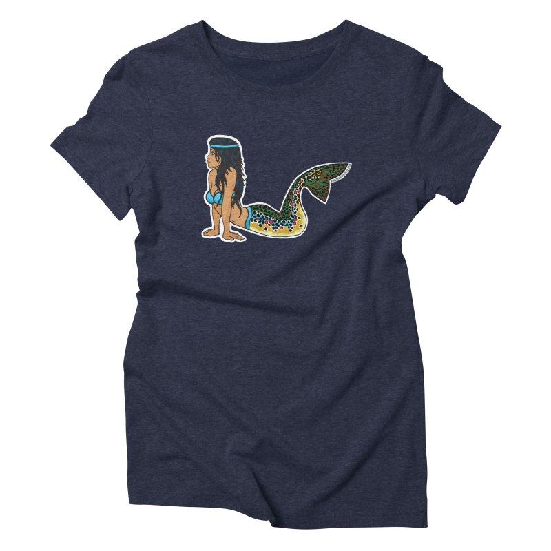 Brown Mertrout Women's Triblend T-Shirt by Bozeman Creatives's Artist Shop
