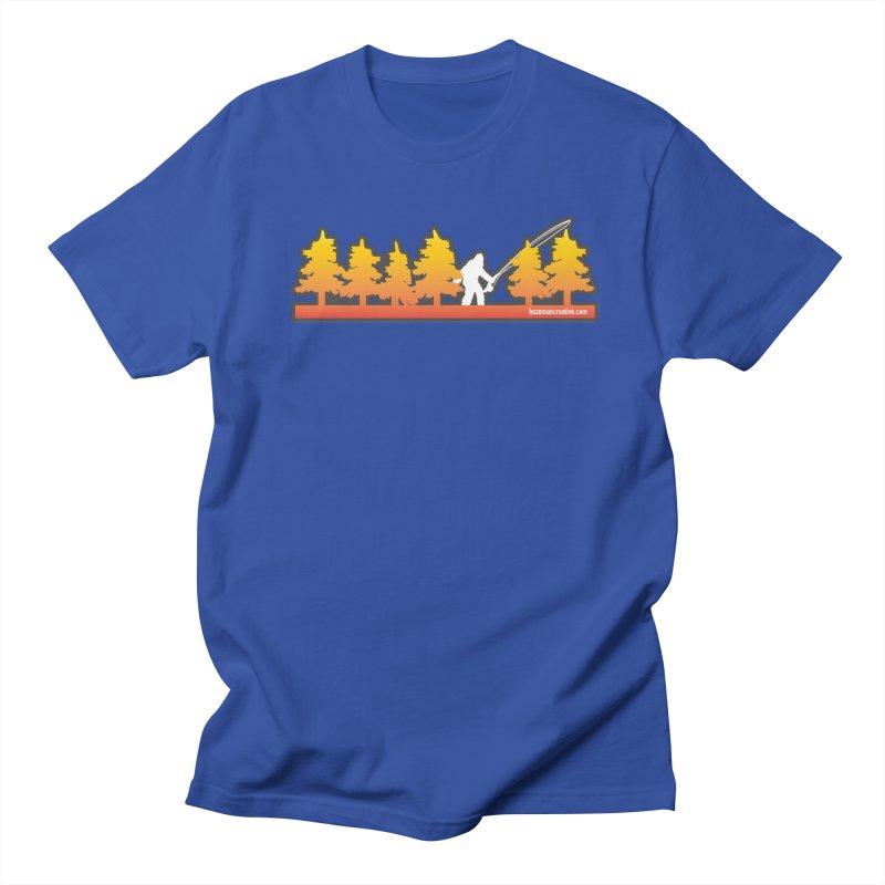 Fly Squatchin Men's Regular T-Shirt by Bozeman Creatives's Artist Shop