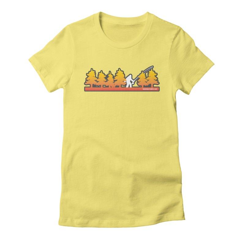 Fly Squatchin Women's Fitted T-Shirt by Bozeman Creatives's Artist Shop