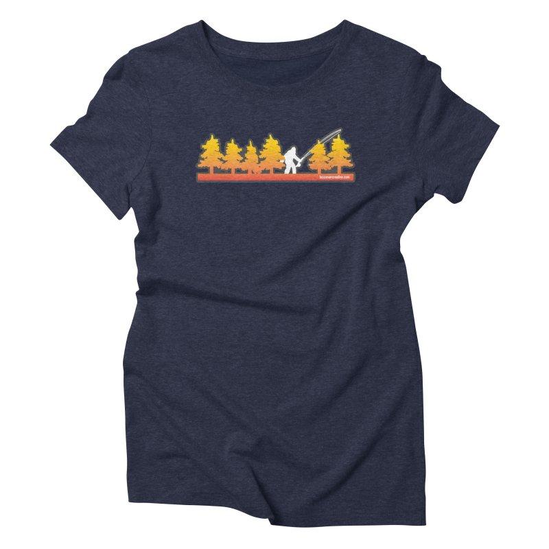 Fly Squatchin Women's Triblend T-Shirt by Bozeman Creatives's Artist Shop