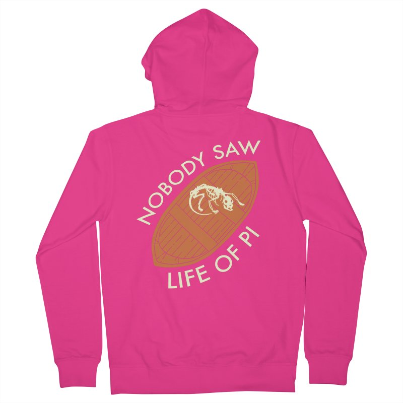 Nobody Saw Life Of Pi Men's French Terry Zip-Up Hoody by [BRACKET!] T-Shirt Emporium