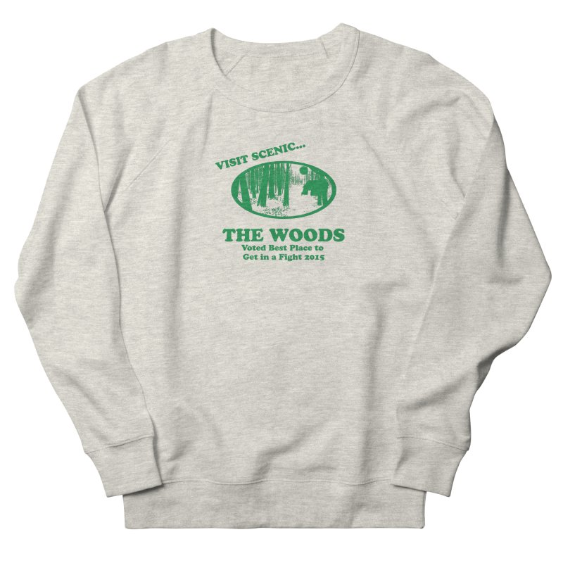 Visit The Woods! Men's French Terry Sweatshirt by [BRACKET!] T-Shirt Emporium