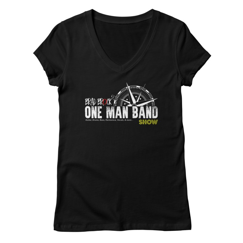 One Man Band Women's V-Neck by Brad Brock Official Merch