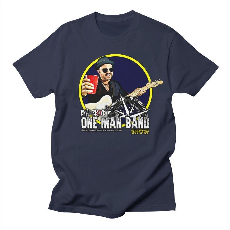 One Man Band Men's Regular T-Shirt by Brad Brock Official Merch
