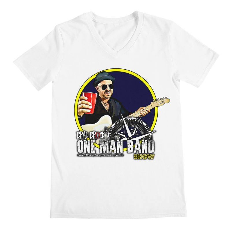 One Man Band Men's V-Neck by Brad Brock Official Merch