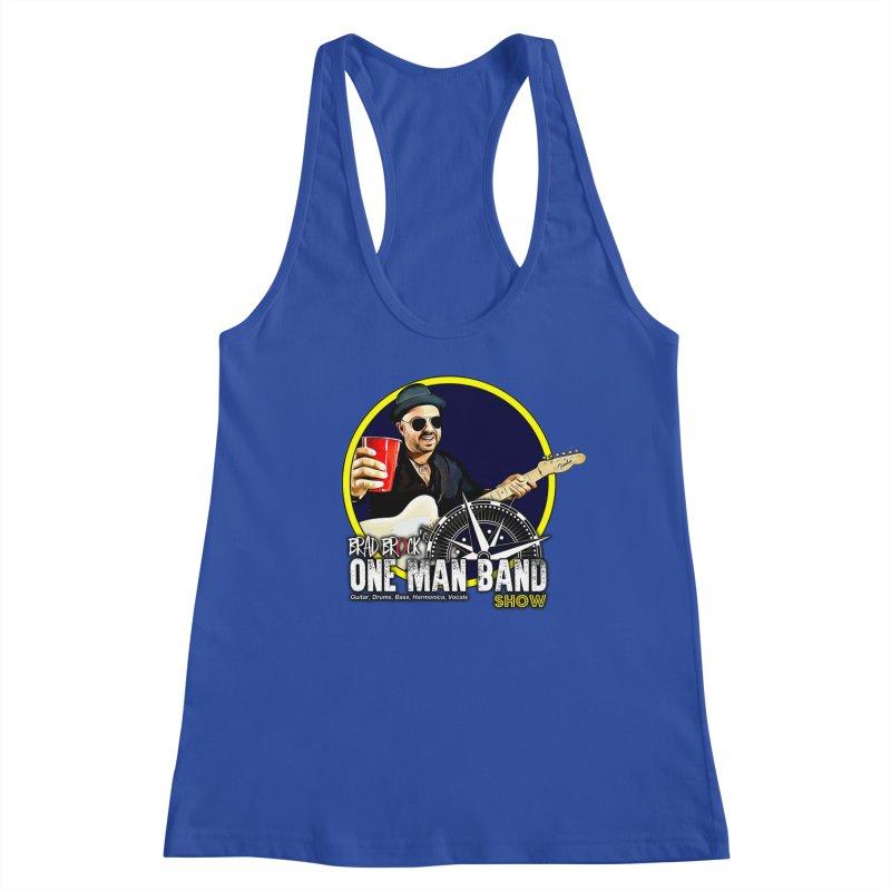One Man Band Women's Racerback Tank by Brad Brock Official Merch