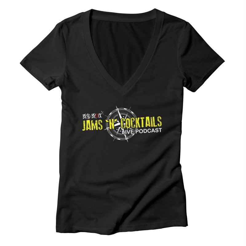 Jams N Cocktails Women's V-Neck by Brad Brock Official Merch