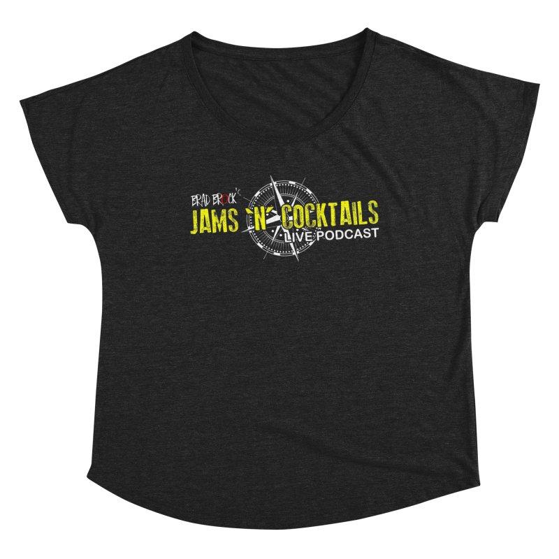 Jams N Cocktails Women's Dolman Scoop Neck by Brad Brock Official Merch