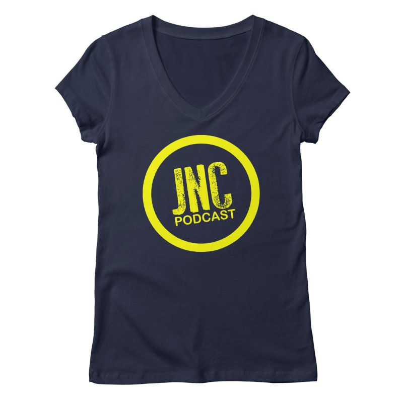Jams 'N' Cocktails Podcast Women's V-Neck by Brad Brock Official Merch