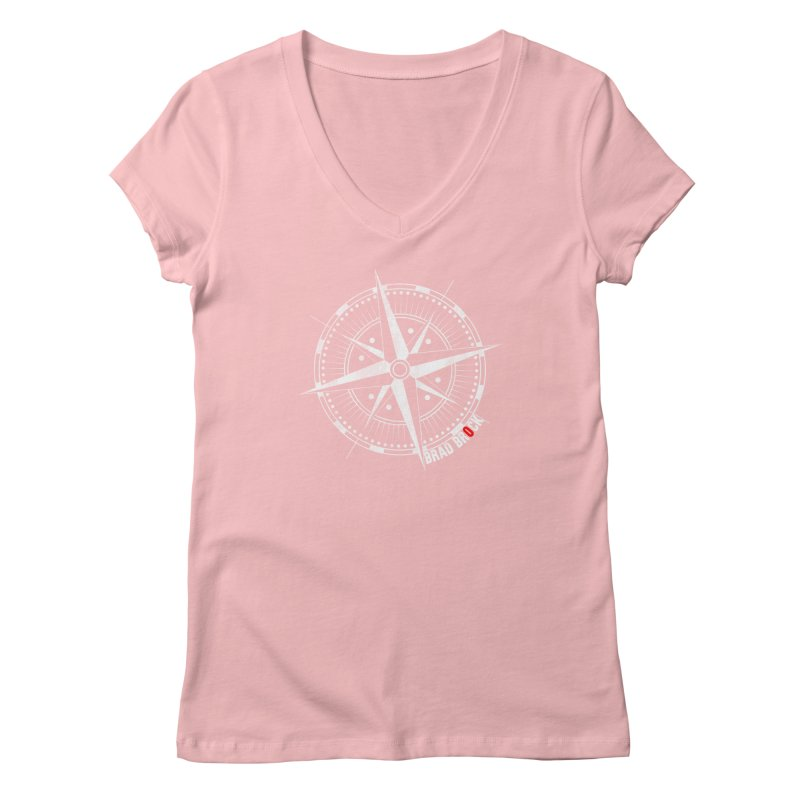 Nauti Compass Shirts Women's V-Neck by Brad Brock Official Merch