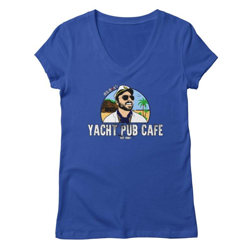 Brad Brock's Yacht Pub Cafe Women's Regular V-Neck by Brad Brock Official Merch