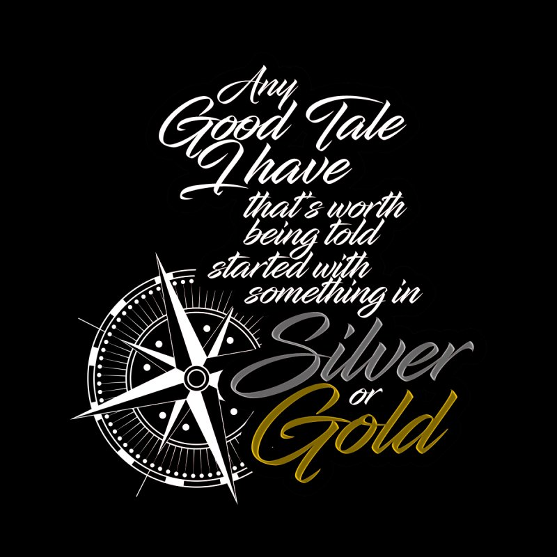 Silver & Gold Men's T-Shirt by Brad Brock Official Merch