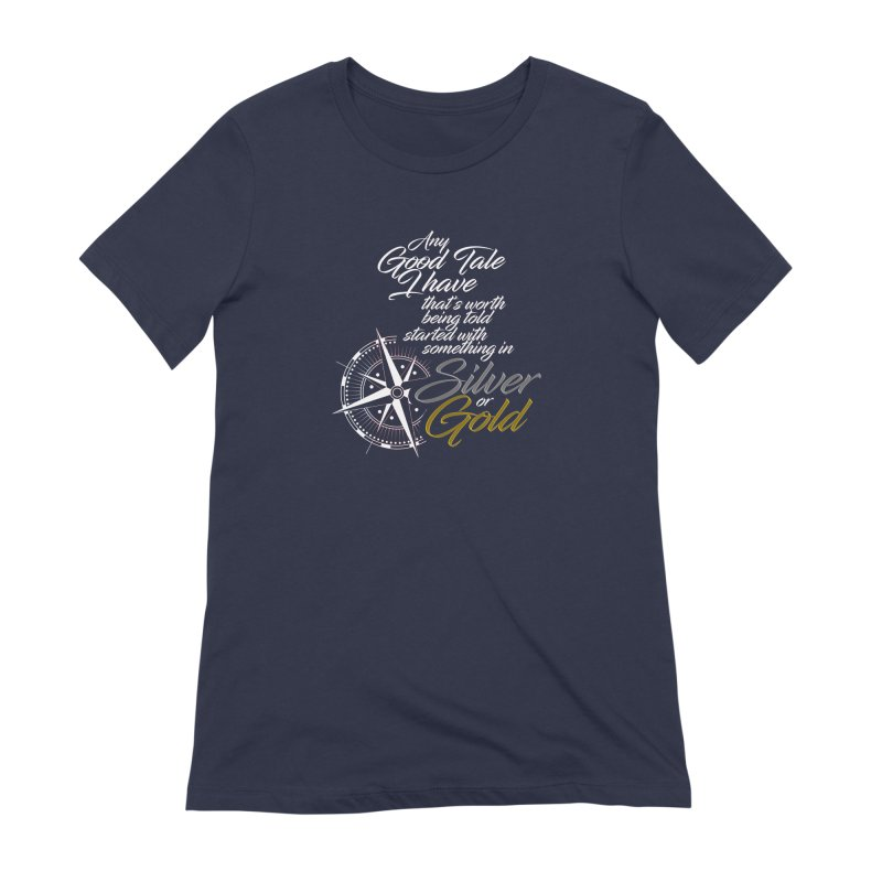 Silver & Gold Women's Extra Soft T-Shirt by Brad Brock Official Merch