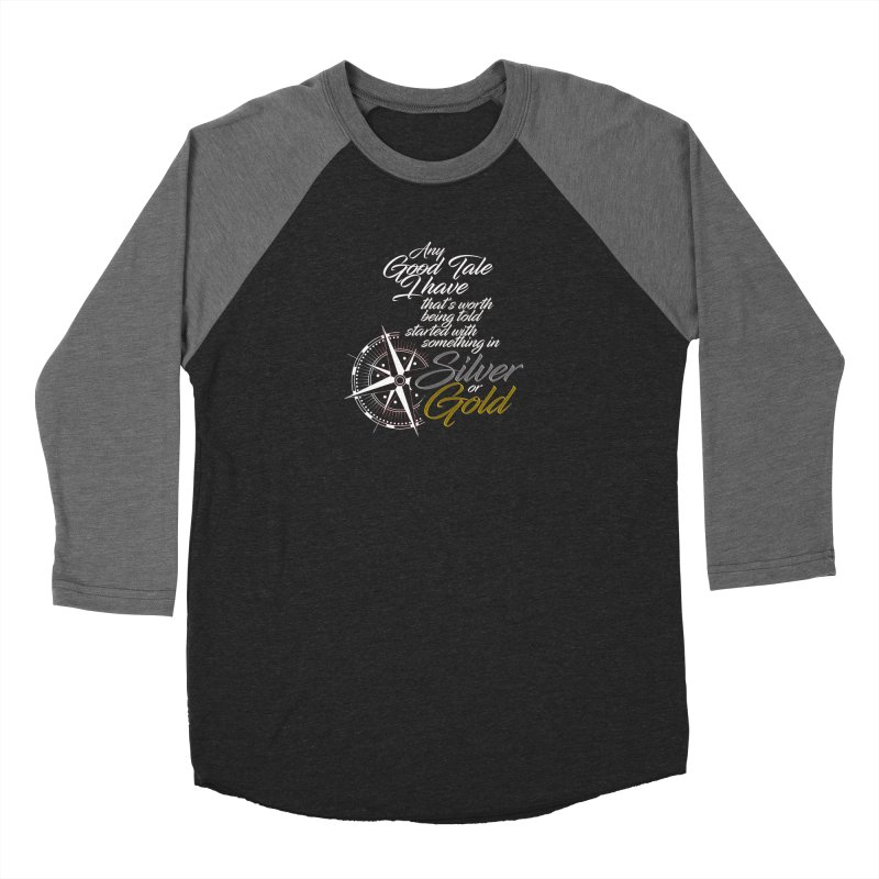Silver & Gold Men's Longsleeve T-Shirt by Brad Brock Official Merch