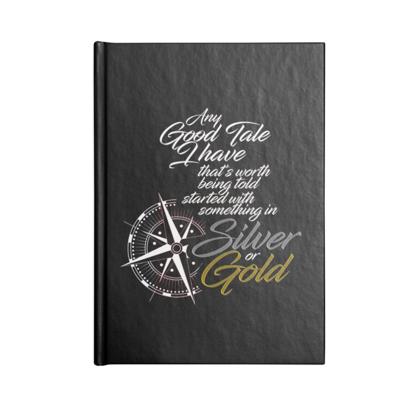 Silver & Gold Accessories Lined Journal Notebook by Brad Brock Official Merch