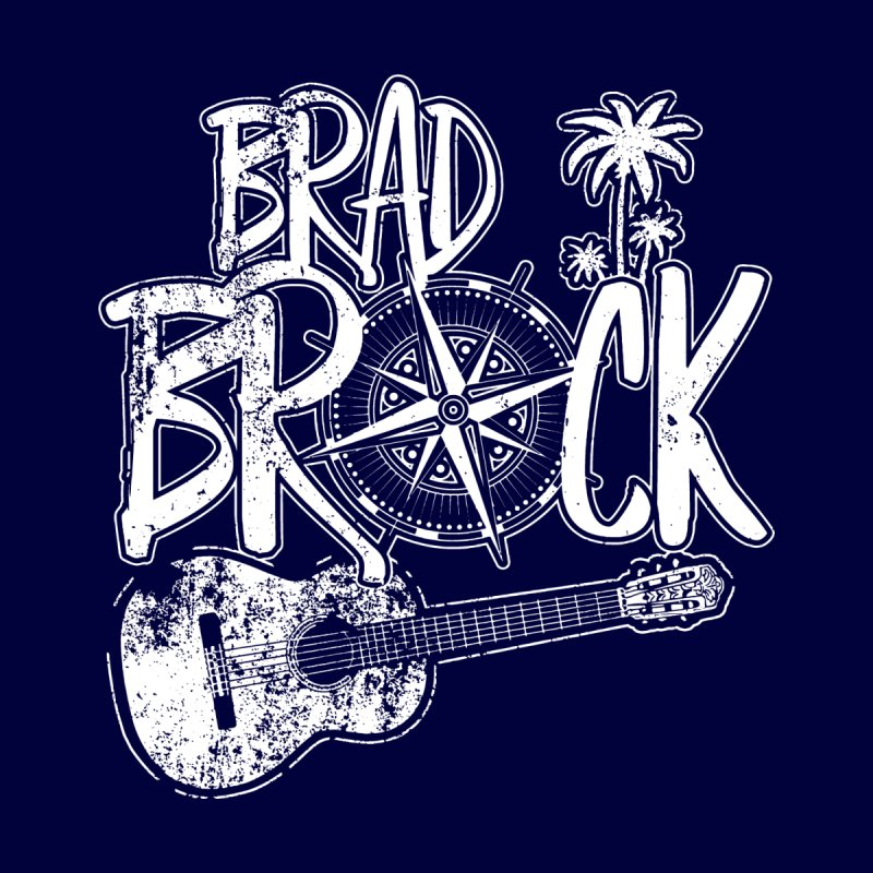 Brad Brock Guitar Dark Fabric Men's T-Shirt by Brad Brock Official Merch