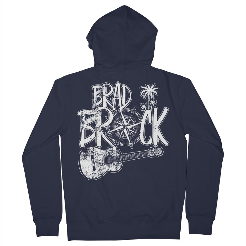 Brad Brock Guitar Dark Fabric Women's Zip-Up Hoody by Brad Brock Official Merch