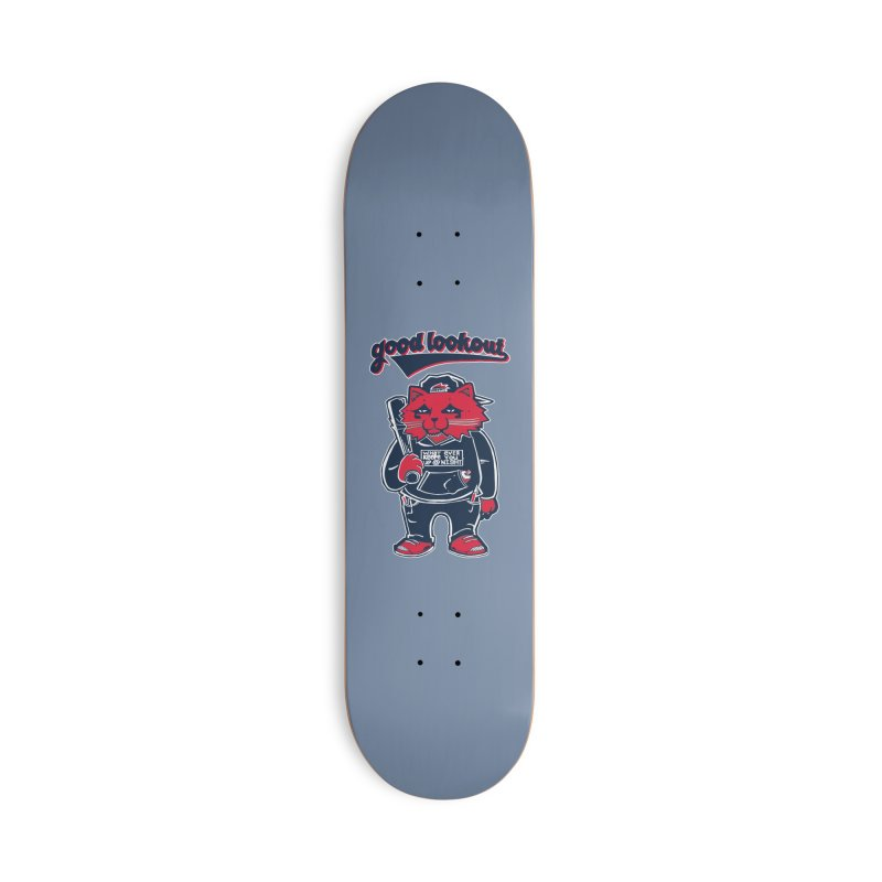 Good Lookout Player Accessories Skateboard by Brad Leiby Art