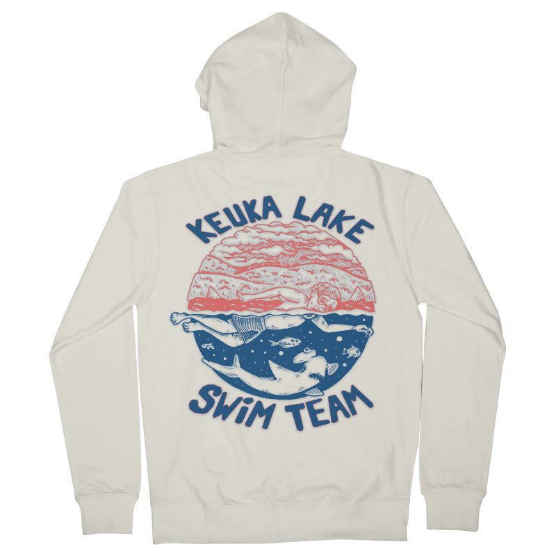 Keuka Lake Swim Team Women's Zip-Up Hoody by Brad Leiby Art