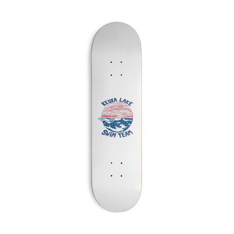 Keuka Lake Swim Team Accessories Skateboard by Brad Leiby Art