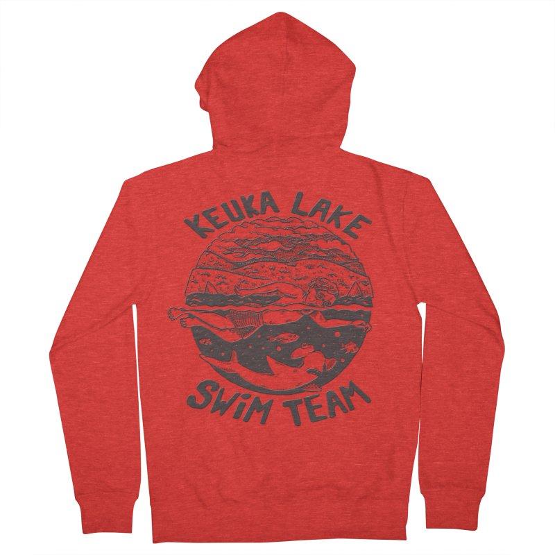 Keuka Lake Swim Team B Women's Zip-Up Hoody by Brad Leiby Art