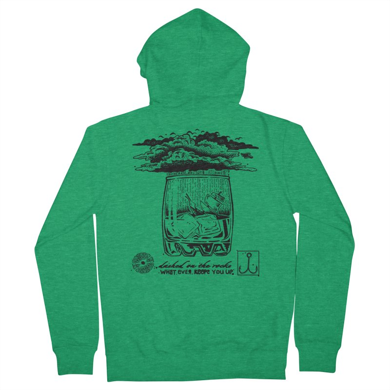Dashed On The Rocks Women's Zip-Up Hoody by Brad Leiby Art
