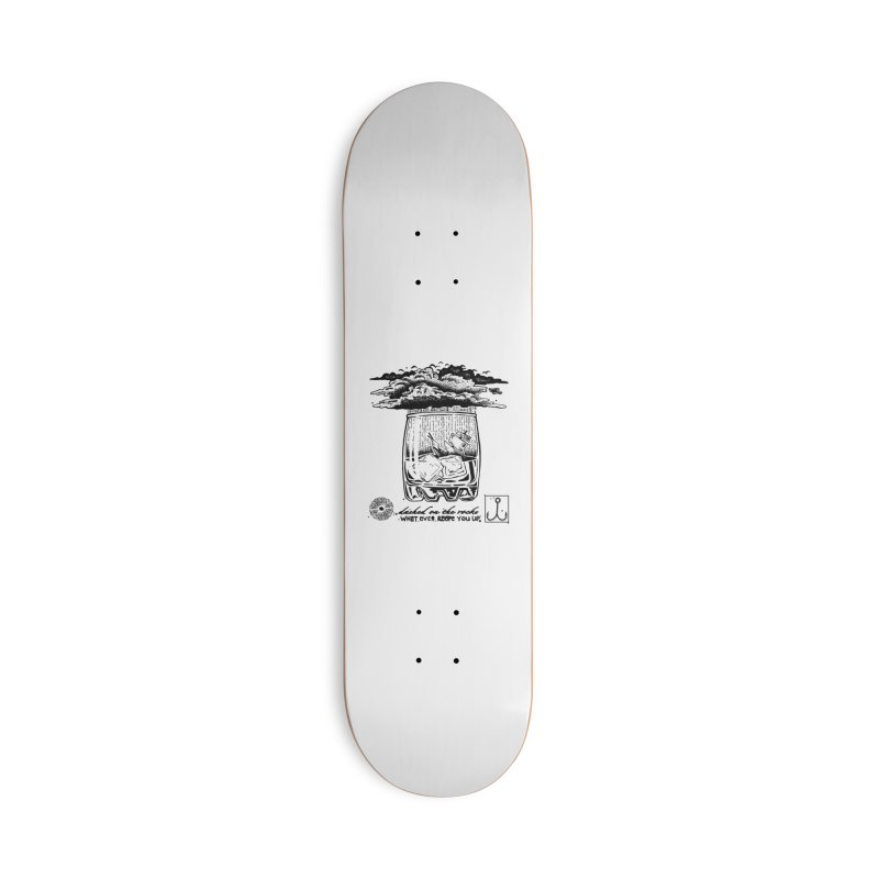 Dashed On The Rocks Accessories Skateboard by Brad Leiby Art