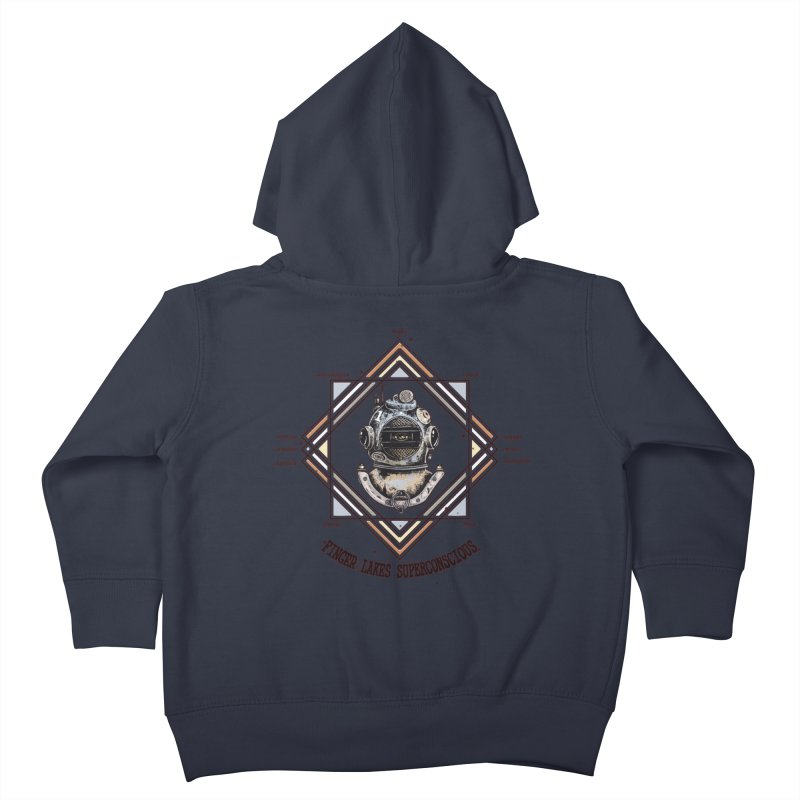 Finger Lakes Superconscious Kids Toddler Zip-Up Hoody by Brad Leiby Art