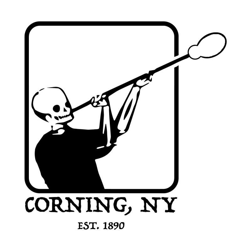 Skeleton Joe Corning NY Men's T-Shirt by Brad Leiby Art