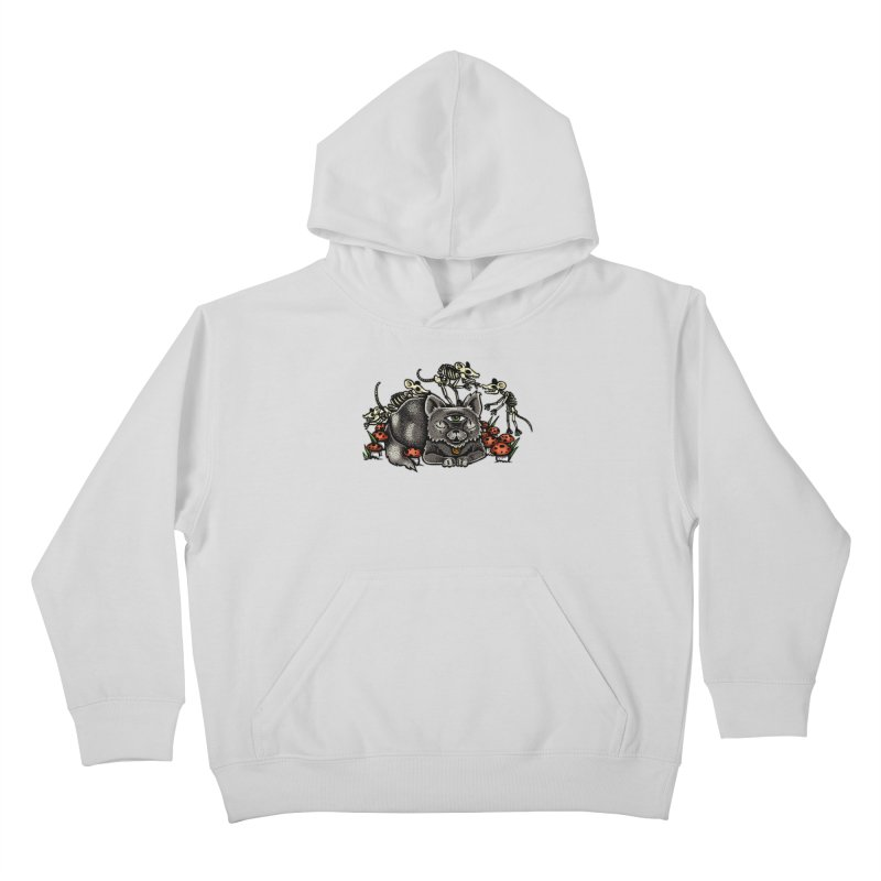 When The Cats Away Kids Pullover Hoody by Brad Leiby Art