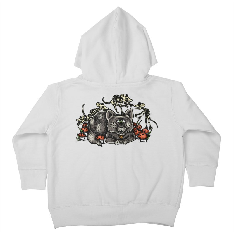 When The Cats Away Kids Toddler Zip-Up Hoody by Brad Leiby Art