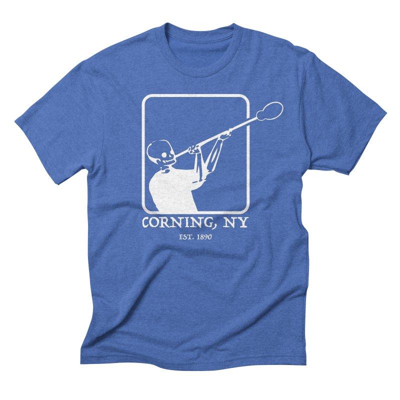 Skeleton Joe White Men's T-Shirt by Brad Leiby Art