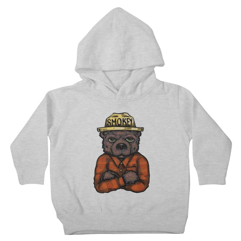 Smokey Kids Toddler Pullover Hoody by Brad Leiby Art