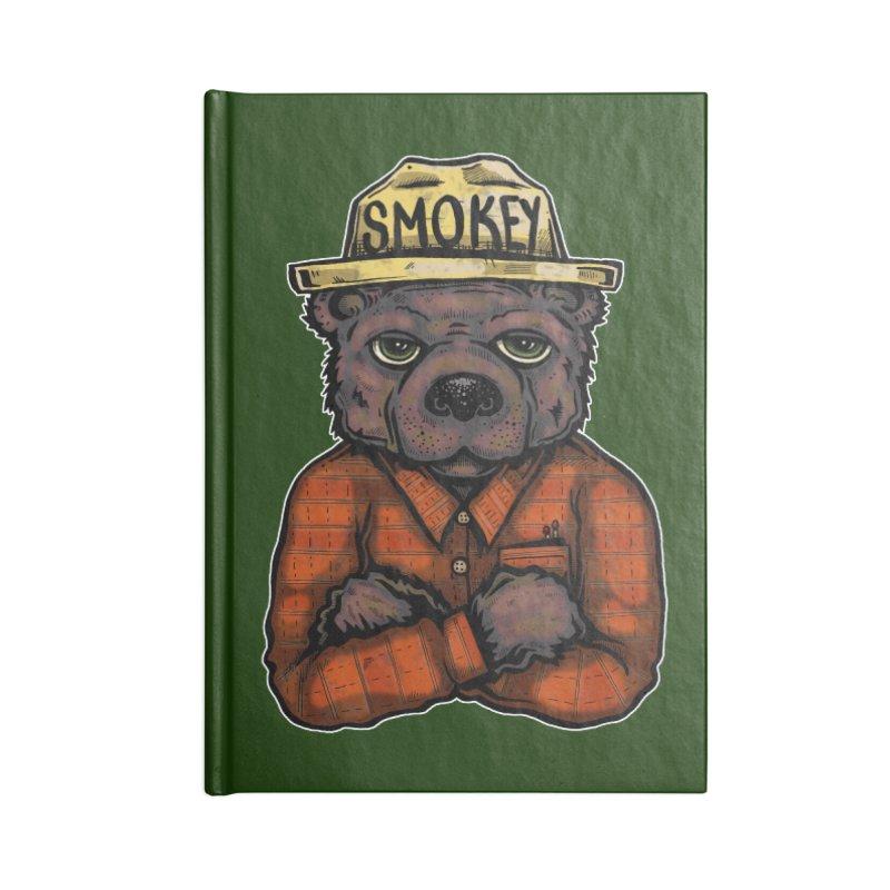 Smokey Accessories Notebook by Brad Leiby Art