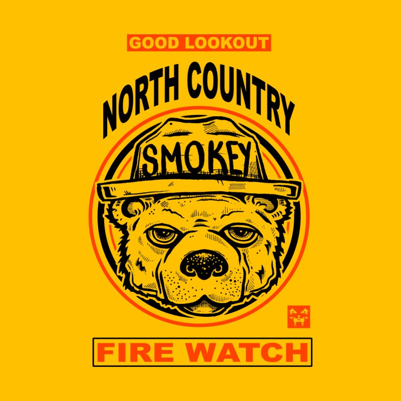 North Country Fire Watch Men's Pullover Hoody by Brad Leiby Art
